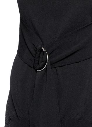 细节 - 点击放大 - ERIKA CAVALLINI - 两侧开衩针织背心