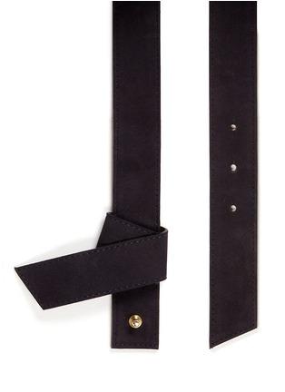 细节 - 点击放大 - MAISON BOINET - 折叠装饰绒面真皮腰带
