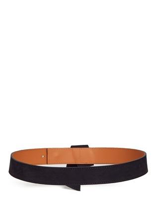 背面 - 点击放大 - MAISON BOINET - 折叠装饰绒面真皮腰带