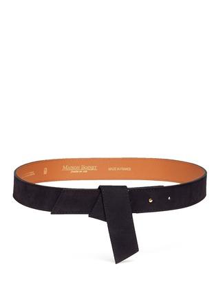 首图 - 点击放大 - MAISON BOINET - 折叠装饰绒面真皮腰带
