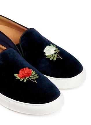 细节 - 点击放大 - BING XU - 玫瑰花刺绣平底便鞋