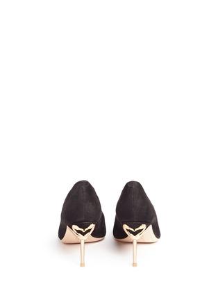 背面 - 点击放大 - SOPHIA WEBSTER - COCO FLAMINGO火烈鸟鞋跟绒面皮高跟鞋