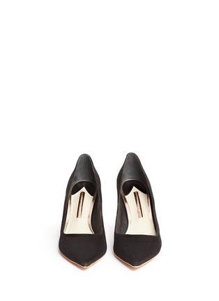 正面 -点击放大 - SOPHIA WEBSTER - COCO FLAMINGO火烈鸟鞋跟绒面皮高跟鞋