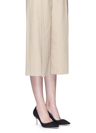 模特儿示范图 - 点击放大 - SOPHIA WEBSTER - COCO FLAMINGO火烈鸟鞋跟绒面皮高跟鞋