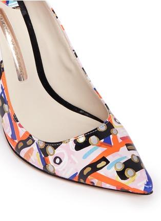 细节 - 点击放大 - SOPHIA WEBSTER - COCO FLAMINGO抽象涂鸦火烈鸟尖头高跟鞋