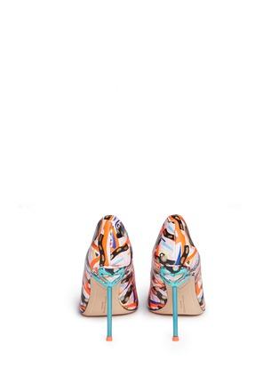 背面 - 点击放大 - SOPHIA WEBSTER - COCO FLAMINGO抽象涂鸦火烈鸟尖头高跟鞋