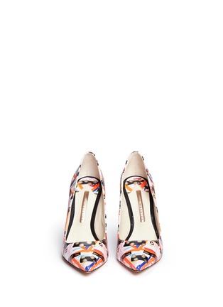正面 - 点击放大 - SOPHIA WEBSTER - COCO FLAMINGO抽象涂鸦火烈鸟尖头高跟鞋