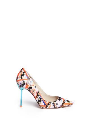 首图 - 点击放大 - SOPHIA WEBSTER - COCO FLAMINGO抽象涂鸦火烈鸟尖头高跟鞋