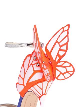 细节 - 点击放大 - SOPHIA WEBSTER - CHIARA蝴蝶花纹拼色高跟凉鞋