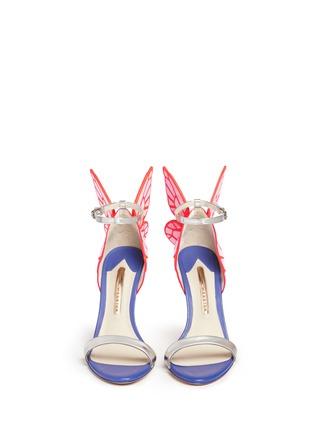 正面 - 点击放大 - SOPHIA WEBSTER - CHIARA蝴蝶花纹拼色高跟凉鞋