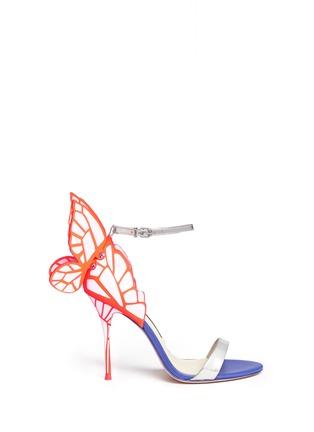 首图 - 点击放大 - SOPHIA WEBSTER - CHIARA蝴蝶花纹拼色高跟凉鞋