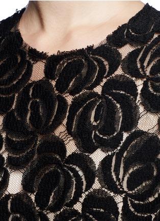 细节 - 点击放大 - MS MIN - 花卉蕾丝透视上衣