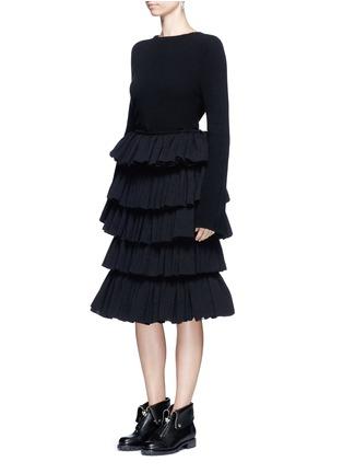 模特儿示范图 - 点击放大 - MS MIN - 层次荷叶边半身裙