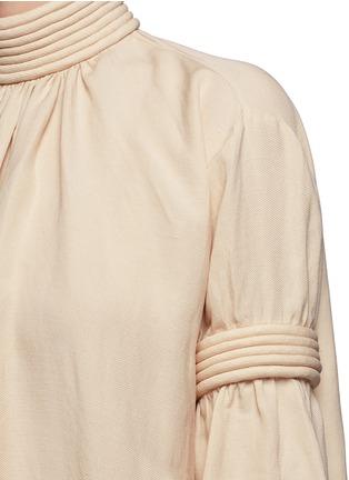 细节 - 点击放大 - MS MIN - 立体条纹混亚麻连衣裙