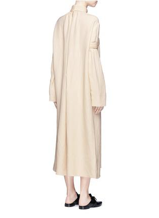 背面 - 点击放大 - MS MIN - 立体条纹混亚麻连衣裙