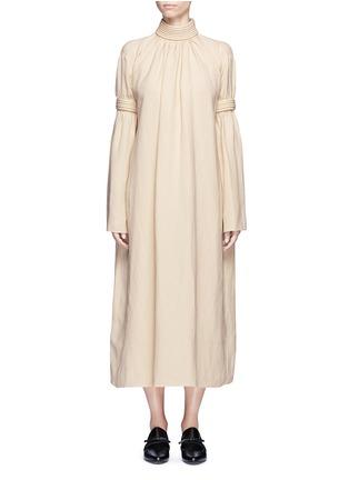 首图 - 点击放大 - MS MIN - 立体条纹混亚麻连衣裙