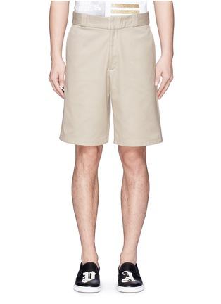 首图 - 点击放大 - Palm Angels - 闪亮竖纹拼贴纯棉短裤