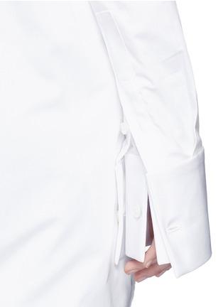 细节 - 点击放大 - ELLERY - CASTELLI不对称拼接纯棉衬衫
