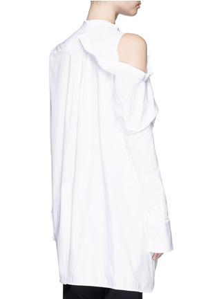 背面 - 点击放大 - ELLERY - CASTELLI不对称拼接纯棉衬衫