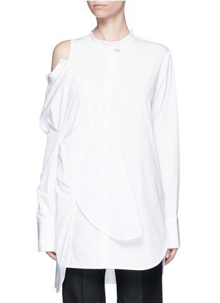 首图 - 点击放大 - ELLERY - CASTELLI不对称拼接纯棉衬衫
