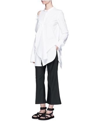 模特儿示范图 - 点击放大 - ELLERY - CASTELLI不对称拼接纯棉衬衫