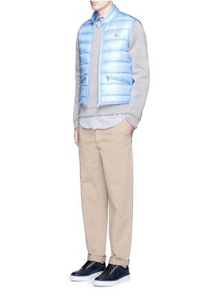 模特儿示范图 - 点击放大 - Moncler - GUI立领绗缝羽绒背心