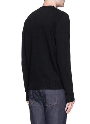 背面 - 点击放大 - ALEXANDER MCQUEEN - 镂空骷髅头羊毛针织衫