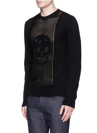 正面 -点击放大 - Alexander McQueen - 镂空骷髅头羊毛针织衫