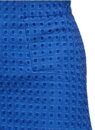 细节 - 点击放大 - NICHOLAS - 镂空刺绣纯棉短裤
