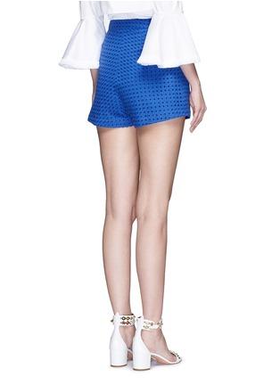 背面 - 点击放大 - NICHOLAS - 镂空刺绣纯棉短裤