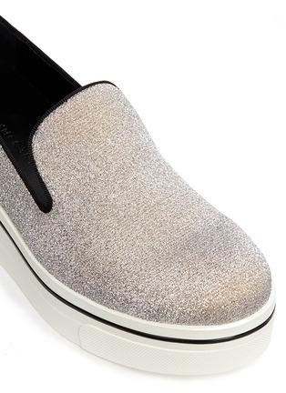 细节 - 点击放大 - STELLA MCCARTNEY - 闪粉厚底便鞋