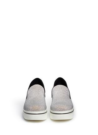 模特示范图 - 点击放大 - STELLA MCCARTNEY - 闪粉厚底便鞋