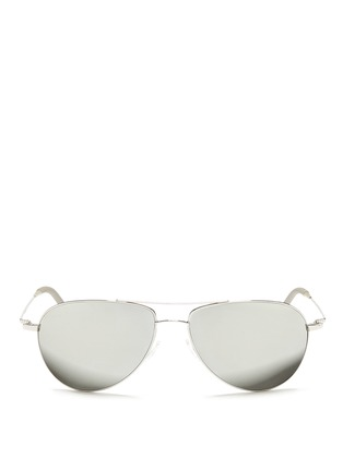 首图 - 点击放大 - OLIVER PEOPLES ACCESSORIES - 'Benedict' double bridge aviator sunglasses