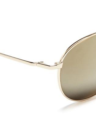 细节 - 点击放大 - OLIVER PEOPLES ACCESSORIES - 'Benedict' double bridge aviator sunglasses