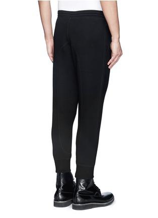 背面 - 点击放大 - NEIL BARRETT - 太空棉真皮拼贴休闲长裤