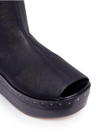 细节 - 点击放大 - RICK OWENS - 弹性羊皮坡跟靴
