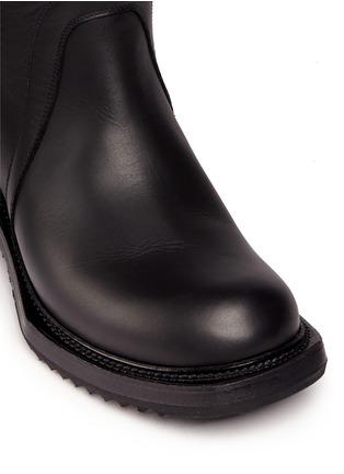 细节 - 点击放大 - RICK OWENS - 单色小牛皮长靴