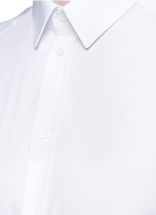 细节 - 点击放大 - DOLCE & GABBANA - Gold纯棉府绸衬衫