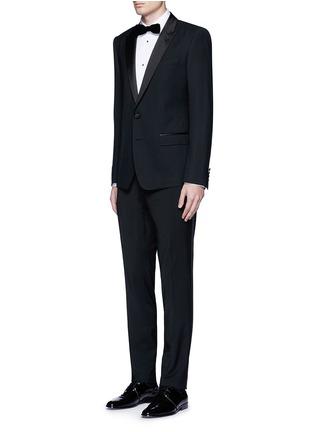 模特儿示范图 - 点击放大 - DOLCE & GABBANA - 修身棉混丝礼服衬衫