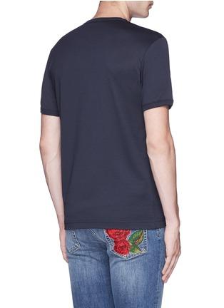 背面 - 点击放大 - DOLCE & GABBANA - 皇冠刺绣V领纯棉T恤