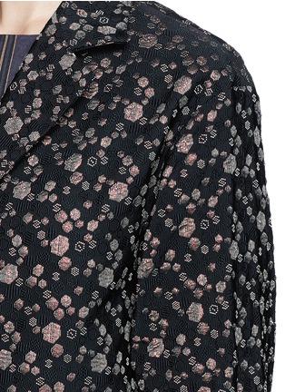 细节 - 点击放大 - DRIES VAN NOTEN - 'Rosh' Lurex geometric dot brocade coat