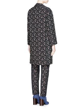 背面 - 点击放大 - DRIES VAN NOTEN - 'Rosh' Lurex geometric dot brocade coat