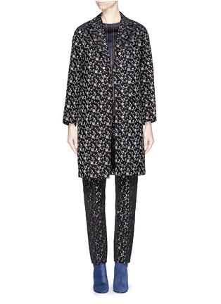 首图 - 点击放大 - DRIES VAN NOTEN - 'Rosh' Lurex geometric dot brocade coat