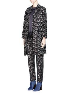 DRIES VAN NOTEN 'Rosh' Lurex geometric dot brocade coat