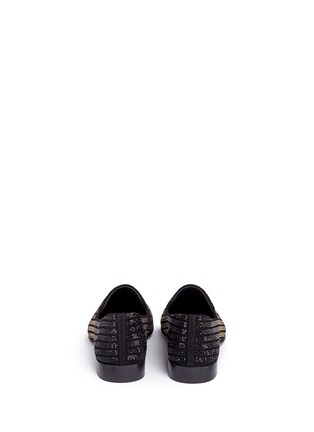 背面 - 点击放大 - GIUSEPPE ZANOTTI DESIGN - Kevin 15渐变色仿水晶装饰绒面皮便鞋