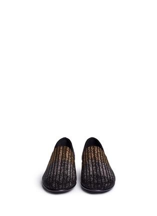 正面 -点击放大 - GIUSEPPE ZANOTTI DESIGN - Kevin 15渐变色仿水晶装饰绒面皮便鞋