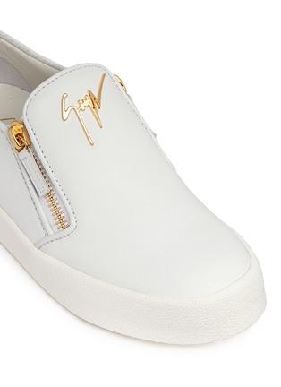 细节 - 点击放大 - GIUSEPPE ZANOTTI DESIGN - MAY LONDON真皮拉链运动鞋