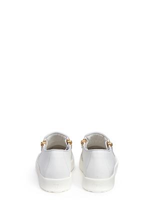 背面 - 点击放大 - GIUSEPPE ZANOTTI DESIGN - MAY LONDON真皮拉链运动鞋