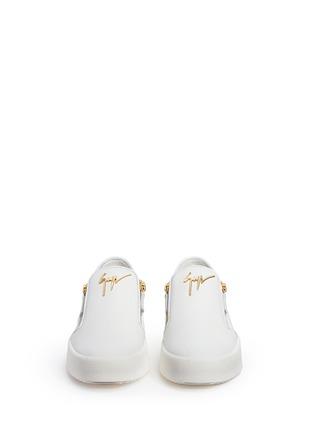 正面 -点击放大 - GIUSEPPE ZANOTTI DESIGN - MAY LONDON真皮拉链运动鞋