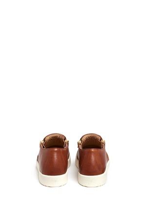 背面 - 点击放大 - GIUSEPPE ZANOTTI DESIGN - MAY LONDON金属拉链牛皮厚底便鞋